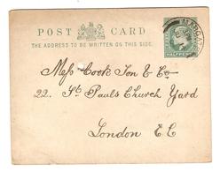 GB ENTIER POSTAL POST CARD 14 JUNE 1904 LOMBARD STREET MARGATE → LONDON - Interi Postali