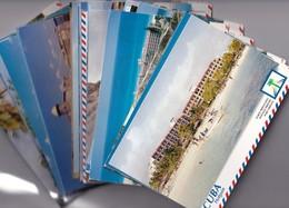 CUBA ENTIER POSTAL/GANZSACHE/POSTAL STATIONERY  LOT DE 50 CARTES DONT 1 CIRCULEE - Cuba