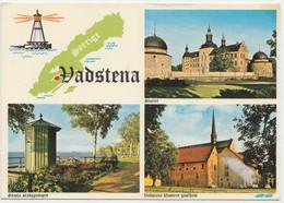 Vadstena, Sweden, Multi View, 1976 Used Postcard [20437] - Sweden