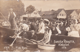 CPA - Borough Regatta - Kingston - Tub Race - 1909 - Jamaïque