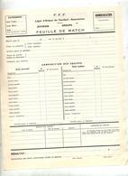 Feuille De Match Ligue Alsace Football - Football