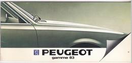 Catalogue - Peugeot Gamme 83 - Voitures