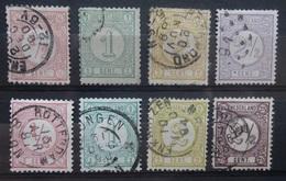 NEDERLAND    1876    Cijfer    Nr.  30 - 33 /  30 B - 33 A      Gestempeld     CW  11,00 - 1852-1890 (Guillaume III)