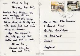 Portugal - Carimbo Numérico N°28 - Sobre Bilhete Postal Do Algarve - Storia Postale