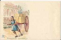 CPA - Illustrée - Thème Transport - Transport En Chine  - Folklore - Chine - Asie - 1900-1949