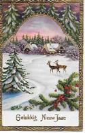 Farmhouse In Snow, Ferme Dans La Neige, Bauernhof Im Schnee, Roe, Reh, Chevreuil, Golden Details - Anno Nuovo