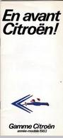 Catalogue - Citroën Gamme 1983 - Voitures