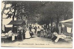 17-CHATELAILLON-Rue Du Marché...  1916  Animé - Châtelaillon-Plage
