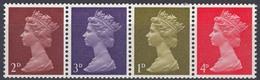 Timbres Neufs** De Grande Bretagne, N°472, 473, 474 Et 476 Yt  Se Tenant, 1976, Série Courante, Reine Queen, - Neufs