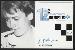 Jóhann Hjartarson - Icelandic Chess Grandmaster -  Postcard - (CHESS-16) - Cartes Postales