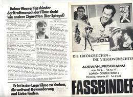 Programme Cinema Corso Wurzburg 1977 - Merchandising