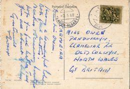 Portugal - Carimbo Numérico N°56 - Sobre Bilhete Postal Do Algarve - Storia Postale