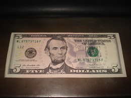 5 DOLLARS SERIES 2013 COULEUR - USA