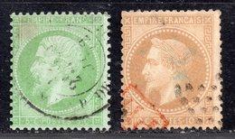Napoléon  N° 20g/28B  Avec Oblitération D'Epoque Cachet à Date Et PD Rouge Dans Rectangle  TB - 1853-1860 Napoléon III.