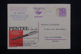 BELGIQUE - Entier Postal Publibel ( Pentel ) De Bruxelles Pour St Etienne En 1973 - L 22092 - Stamped Stationery
