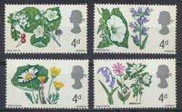 Timbres Neufs** De Grande Bretagne, N°465-8 Yt,fleurs, Aubépine, Jacinthe, Anémone, Volubilis, Vipérine, Marguerite.. - 1952-.... (Elizabeth II)