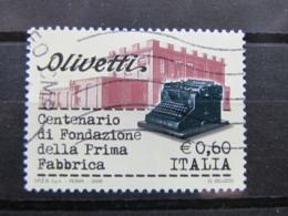 *ITALIA* USATI 2008 - CENT OLIVETTI - SASSONE 3011 - LUSSO/FIOR DI STAMPA - 6. 1946-.. Repubblica