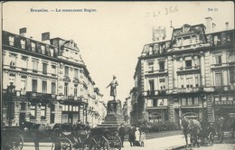 BRUXELLES :  Le Monument Rogier   // Belle Animation - Spoorwegen, Stations