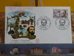 Liberté,Pierre Larousse - 89 Toucy - 11.5.1968 FDC 1er Jour N°639 - Coté 1,80€ - 1960-1969
