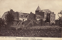 Virton L'église Ravagée Cyclone 1904 - Virton