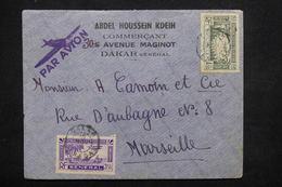 SÉNÉGAL - Enveloppe Commerciale De Dakar Pour Marseille Par Avion - L 22097 - Sénégal (1887-1944)