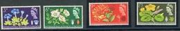 Timbres Neufs** De Grande Bretagne, N°391-4 Yt,fleurs, Gentiane, églantine, Chèvrefeuille, Nénuphar, Botanique - 1952-.... (Elizabeth II)