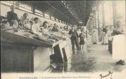 BRUXELLES : L'Intérieur Du Marché Aux Poissons - Marchés