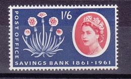 Timbres Neufs** De Grande Bretagne, N°361 Yt,fleurs, Chardon, 100 Ans De La Caisse D'épargne - 1952-.... (Elizabeth II)