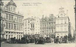 BRUXELLES :  La  Grand'Place / Marché Aux Fleurs - Marktpleinen, Pleinen