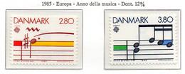 PIA  -  DANIMARCA  -  1985  :  Europa - Anno Della Musica -  (Yv 839-40) - Europa-CEPT