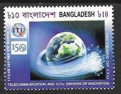 Bangladesh Bangladesch 2015 150 Years Of ITU / UIT Fernmeldeunion Telecommunicat. Michel No. 1157 MNH Postfrisch Neuf ** - Bangladesch