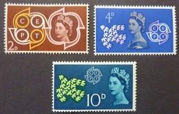 Timbres Neufs** De Grande Bretagne, N°362-4 Yt, Conférence Des Postes Et Télécommunication, Logo Europa CEPT - 1952-.... (Elizabeth II)