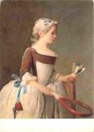 Art - Peinture - Jean-Baptiste Chardin - La Fillette Au Volant - Little GirI With Shuttlecoecock - Etat Pli Visible - Vo - Peintures & Tableaux