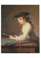 Art - Peinture - Jean-Baptiste Chardin - Jeune Dessinateur Taillant Son Crayon - Paris - Musée Du Louvre - Voir Scans Re - Peintures & Tableaux