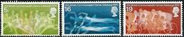 Timbres Neufs** De Grande Bretagne, N°596-8 Yt, Jeux Du Commonwealth, Natation, Cyclisme, Athlétisme - 1952-.... (Elizabeth II)
