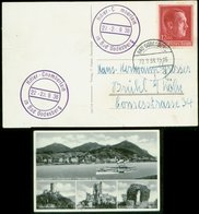 P0539 - DR Postkarte Bad Godesberg Mit Stempel Hitler - Chamberlain Treffen: Gebraucht Bad Godesberg - Brühl 1938 , Bed - Deutschland