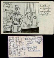 P0534 - DR Militär Humur Postkarte: Gebraucht Feldpost Rendsburg - Lübeck 1943, Bedarfserhaltung. - Deutschland