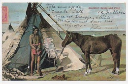 CPA INDIENS Blackfoot Brave And Pony - Indiens De L'Amerique Du Nord