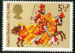 Timbres Neufs** De Grande Bretagne, N°730 Yt, Chevalerie Médiévale, Owain Glyndwr, Cheval Chevalier, Armure - Neufs