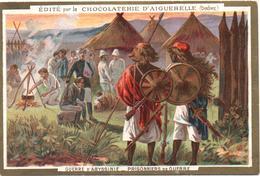 Figurina, Chromo, Vict. Trade Card. Aiguebelle. Guerre D'Abyssinie. Prisonniers. I Prigionieri Della Guerra D'Abissinia. - Aiguebelle