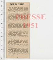 Article Presse 1951 Anecdote Sur Le Ventriloque Comte  223AC - Vieux Papiers