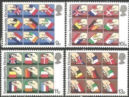 Timbres Neufs** De Grande Bretagne, N°888-91 Yt, élections Au Parlement Européen, Urne, Drapeaux - Neufs