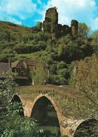 12 Belcastel Le Pont Dominé Par Les Ruines Du Château (2 Scans) - Andere Gemeenten