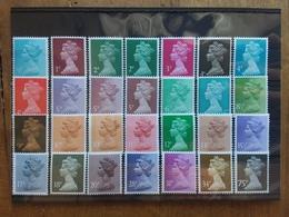 GRAN BRETAGNA - Ordinaria - 28 Valori Differenti Nuovi ** Sottofacciale + Spese Postali - 1952-.... (Elisabetta II)