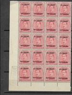 Koning Albert ALLEMAGNE DUITSCHLAND, 10 C In Hoekblok Van 20 Zegels Met DEPOT 1919; OC Nr 42 - Guerre 14-18
