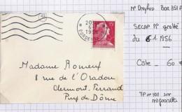 33 - GIRONDE - BORDEAUX P.P. / Texte Gratté  - SECAP / 6.1.1956 / BOR351PJ - Mechanical Postmarks (Other)