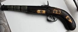 Ancien Pistolet à Silex Maroc Afrique Bois Et Métal - Art Africain