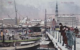 CPA - Lettonie - Riga - Der Halen Im Winter - 1908 - Etat Coin Corné Voir Scans - Lettonie
