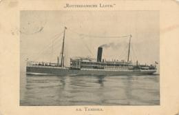Nederland - 1912 -  Fotokaart Mailboot SS Tambora - Rotterdamsche Lloyd - 1891-1948 (Wilhelmine)