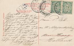 Nederland - 1912 - Grootrond Postagent Rotterdam-Batavia Op Ansicht Van Colombo Naar Den Haag - Per SS Tambora - Periode 1891-1948 (Wilhelmina)